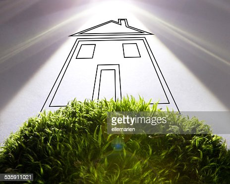 Green Eco house concept : Stock Photo