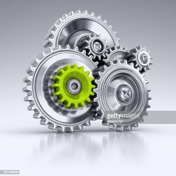green element in machine