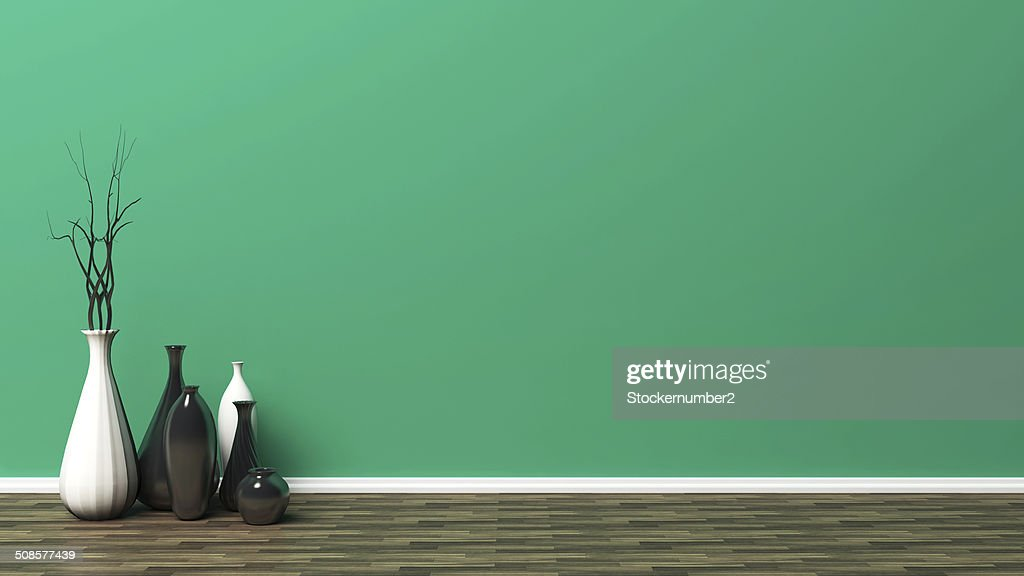 green empty interior : Stock Photo
