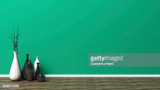 Grüne leeren Innenraum : Stock-Foto