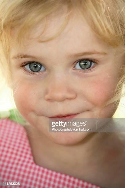 Green eyed closeup