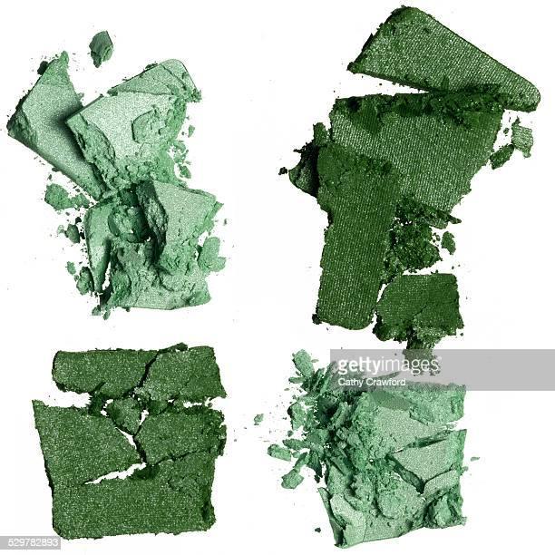 green eyeshadow crumbles