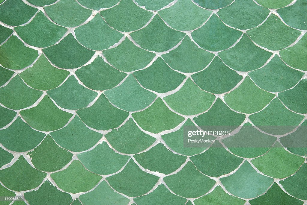 Green Fishscale Abstract Background