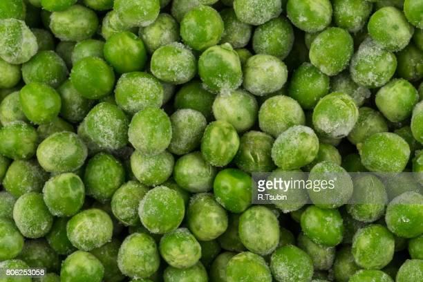 Green frozen raw peas