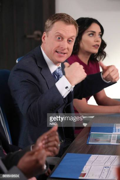 POWERLESS 'Green Furious' Episode 111 Pictured Alan Tudyk as Van Vanessa Hudgens as Emily