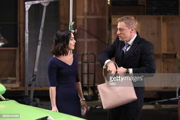 POWERLESS 'Green Furious' Episode 111 Pictured Vanessa Hudgens as Emily Alan Tudyk as Van