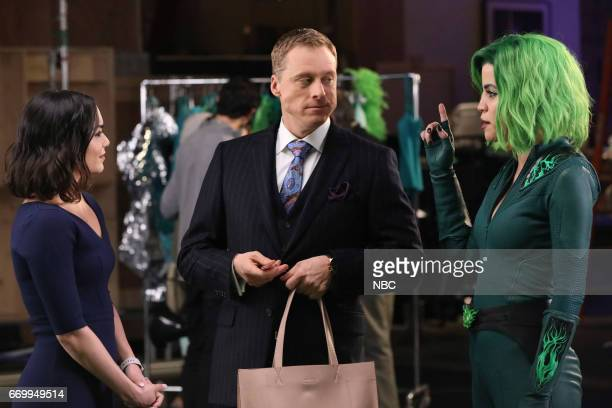 POWERLESS 'Green Furious' Episode 111 Pictured Vanessa Hudgens as Emily Alan Tudyk as Van Natalie Morales as Green Fury