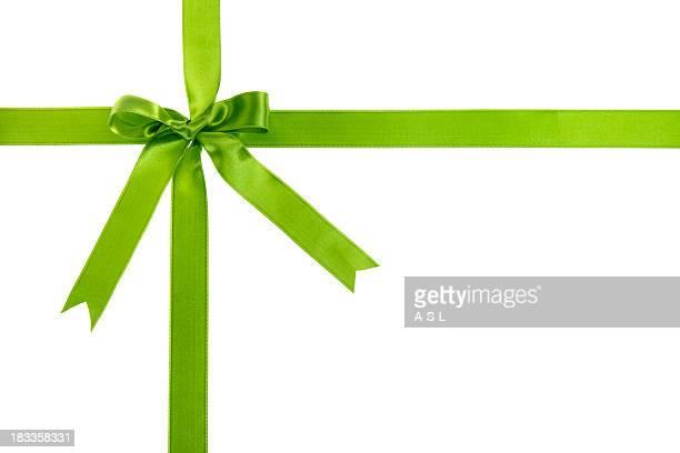 Grüne Geschenk Schleife