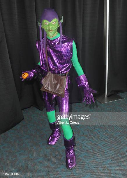 Green Goblin cosplayer poses at the 20th Century FOX panel during ComicCon International 2017 at San Diego Convention Center on July 20 2017 in San...