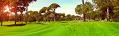 Green golf club panoramic