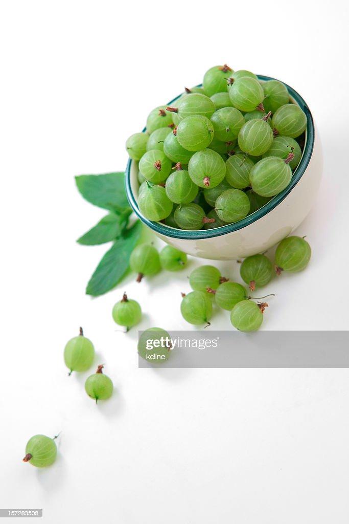 Green Gooseberries : Stock Photo