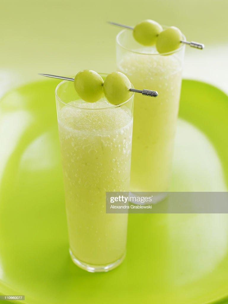 Green Grape Cocktail : Stock Photo