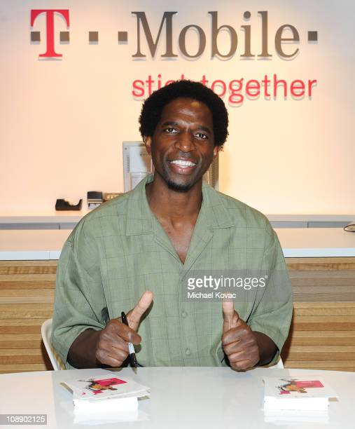 Green greets fans at TMobile and gears up for NBA AllStar 2011 in Los Angeles on February 7 2011 in Burbank California