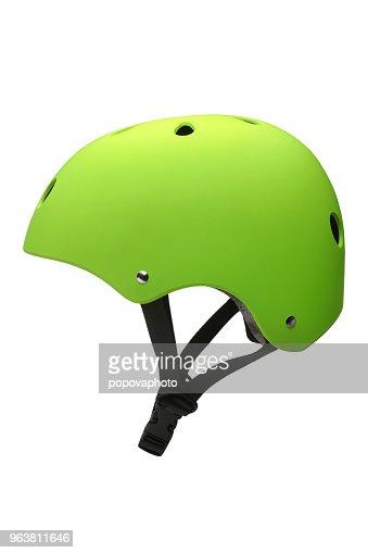 Green hard hat : Stock Photo
