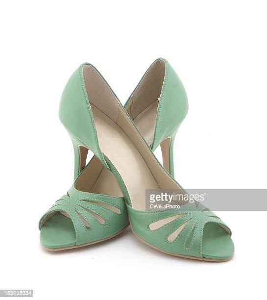 Green High Heels -2