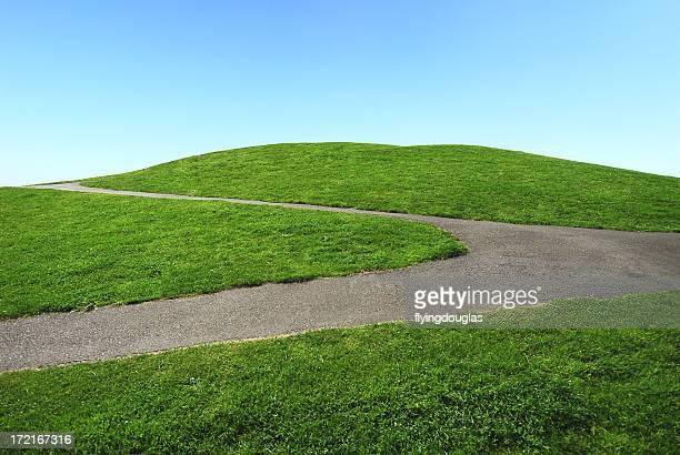 Verde Hill y cielo azul