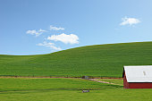 Green Hills and Red Barn