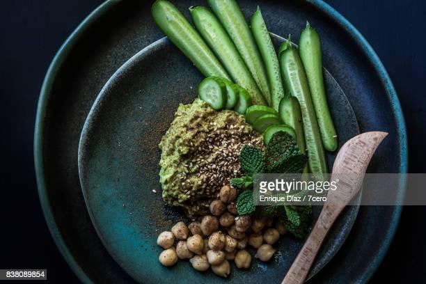 Green Hummus Snack Plate