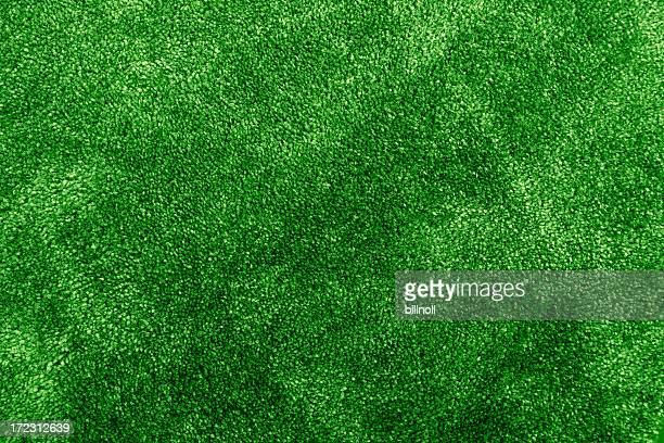 Green indoor carpeting texture