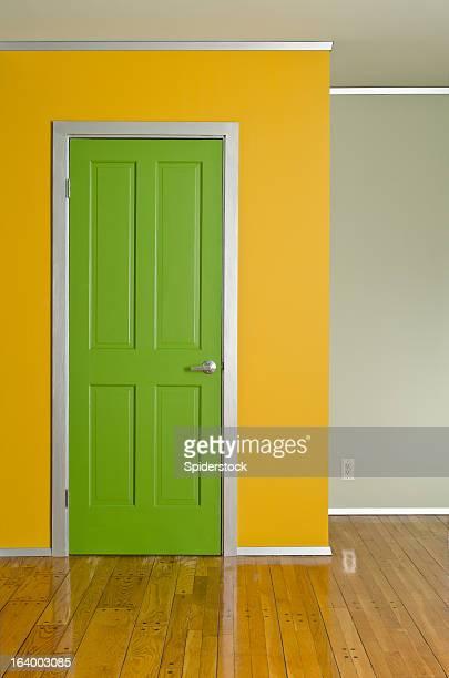 Green Interior Door