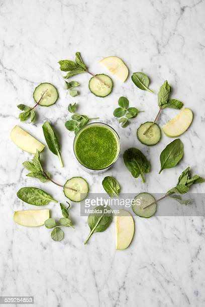 Green juice drink. Part of a healthy lifestyle