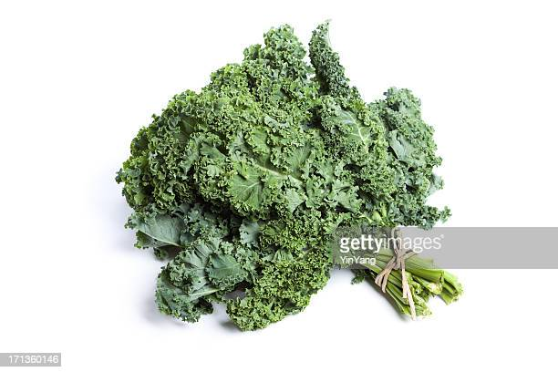 Green Kale Isolated on White Background