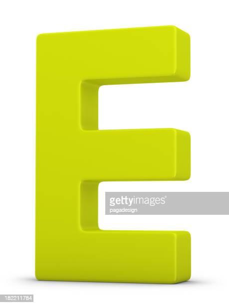 green letter E