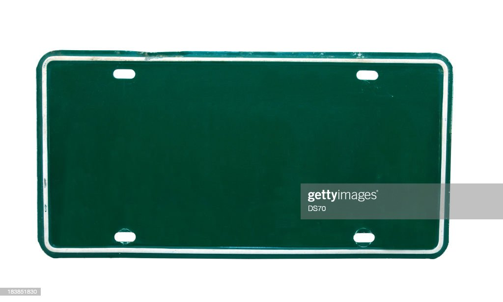 green license plate stock photo getty images. Black Bedroom Furniture Sets. Home Design Ideas