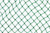 closeup of  green net on white background