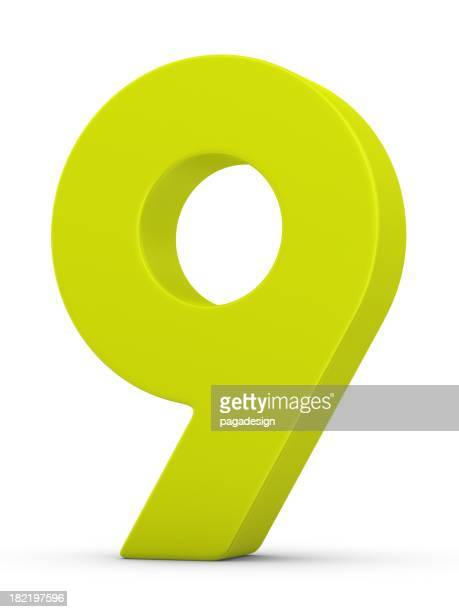 green number 9