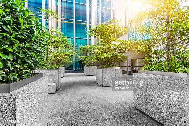 green of office area in hong kong