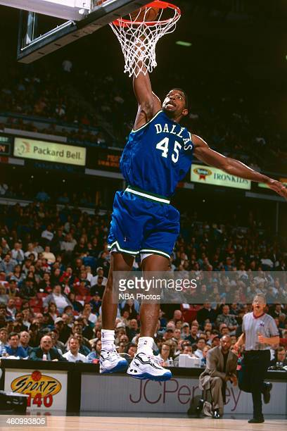 C Green of the Dallas Mavericks dunks during a game played circa 1996 at OaklandAlameda County Coliseum in Oakland California NOTE TO USER User...