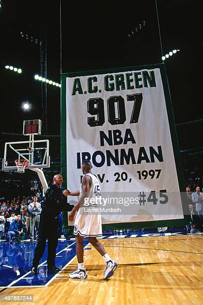 C Green of the Dallas Mavericks plays in his 907th consecutive game against the Golden State Warriors on November 20 1997 at Reunion Arena in Dallas...