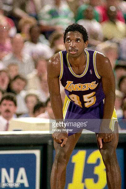 C Green of the Los Angeles Lakers rests against the Sacramento Kings on March 26 1988 at Arco Arena in Sacramento California NOTE TO USER User...
