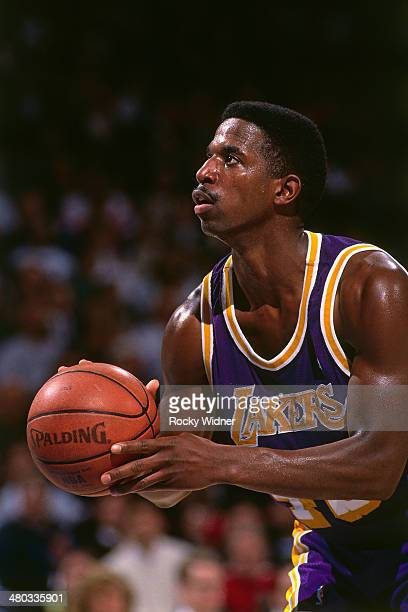 C Green of the Los Angeles Lakers shoots circa 1992 at Arco Arena in Sacramento California NOTE TO USER User expressly acknowledges and agrees that...