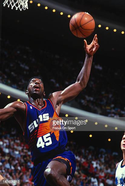 C Green of the Phoenix Suns in action against the Orlando Magic during an NBA basketball game circa 1987 at the Orlando Arena in Orlando Florida...