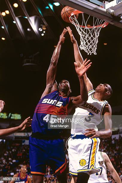 C Green of the Phoenix Suns shoots the ball during a game played circa 1995 at the Oakland Coliseum in Oakland California NOTE TO USER User expressly...