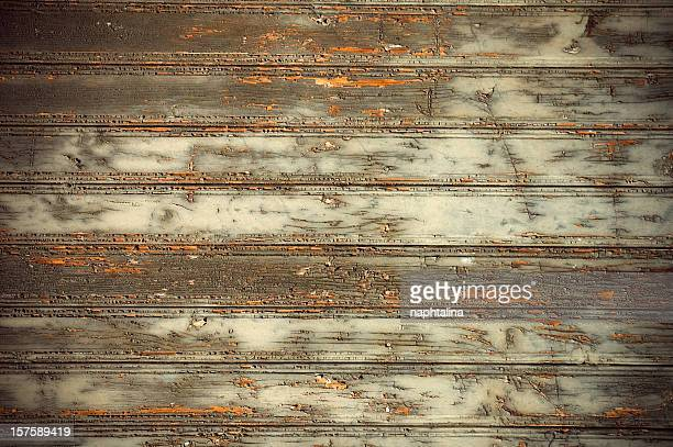 Green old wooden wall