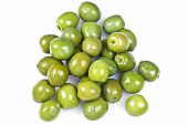 Green olives from above