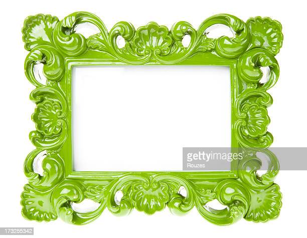 Green Ornate Picture Frame