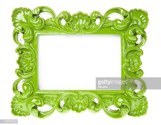 Marco ornamentado verde