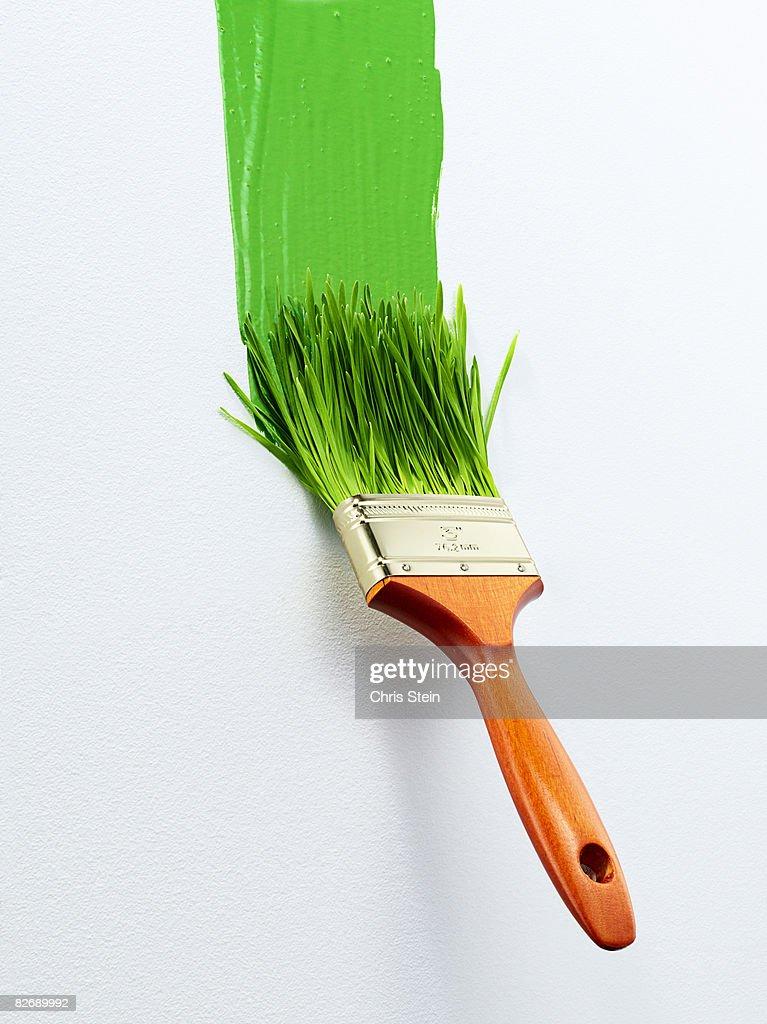 Green Paint Brush 2