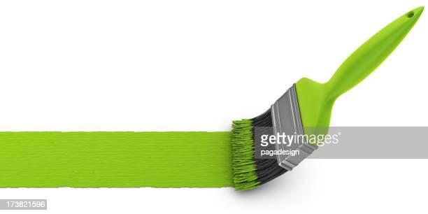 Brosse de peinture verte