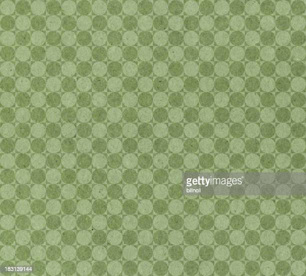 green paper with circle pattern