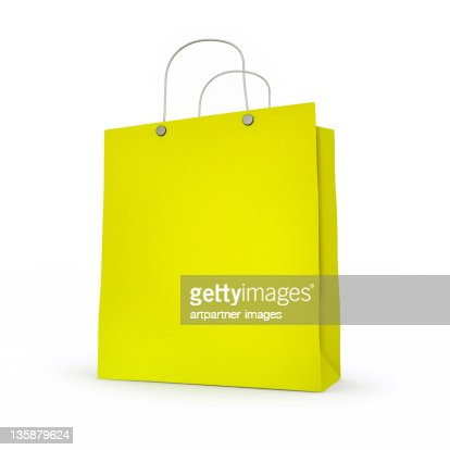 Green Paper-Bag without Imprint