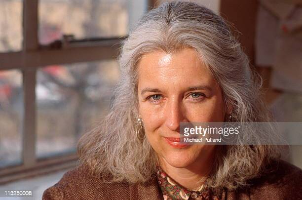 Green Party activist Sara Parkin portrait London 1990