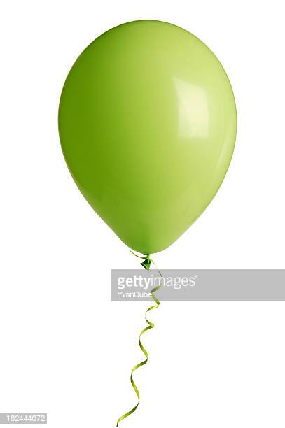 green party balloon on white(w/clipping path)