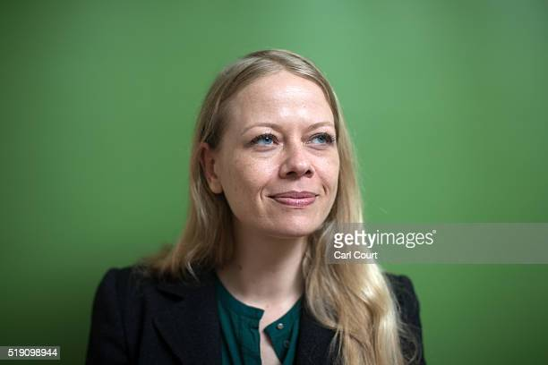 Green party candidate for London mayor Sian Berry poses for a photograph after a press conference to launch her manifesto ahead of the May 5th...