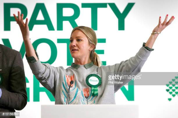 Green Party candidate Hayley Holt during the 2017 Green Party Conference at AUT Auckland during the 2017 Green Party Conference on July 16 2017 in...