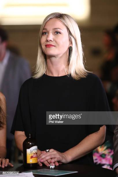 Green Party candidate Hayley Holt watches the votes come in at the Green Party election night function at St Matthews in the City Church on September...